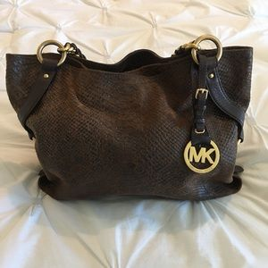 💕Genuine Michael Kors Snakeskin Handbag. New! 💕